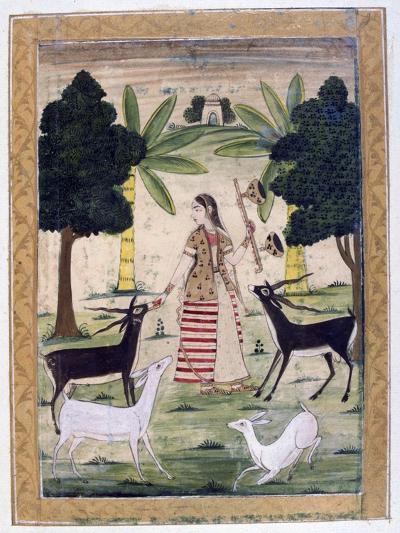 Todi Ragini, Ragamala Album, School of Rajasthan, 19th Century--Giclee Print