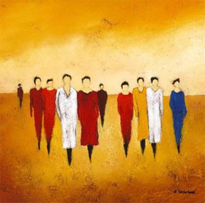 Together I-Anouska Vaskebova-Art Print