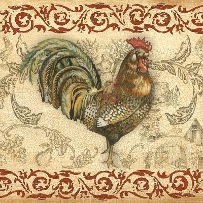Toile Rooster III-Gregory Gorham-Photographic Print