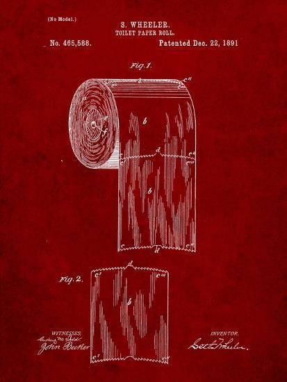 Toilet Paper Patent-Cole Borders-Art Print