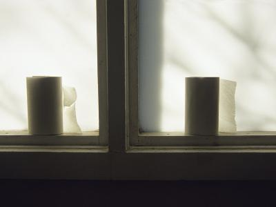 Toilet Paper Rolls Line the Sill of a Window-Raymond Gehman-Photographic Print