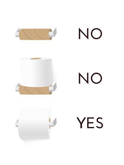 Toilet Paper-Indigo Sage Design-Art Print