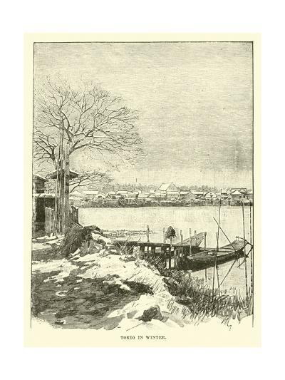 Tokio in Winter--Giclee Print