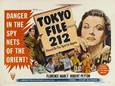 Tokyo File 212, UK Movie Poster, 1951