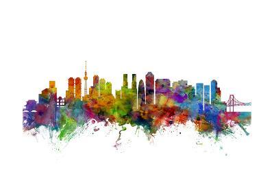 Tokyo Japan Skyline-Michael Tompsett-Art Print