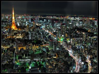 Tokyo Night View-Mikedie-Photographic Print