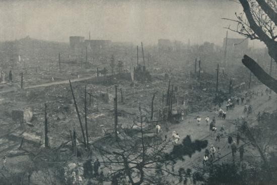 'Tokyo's Smouldering Plain of Wreckage and Ashes', c1935-Unknown-Photographic Print