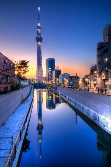 Tokyo Sky Tree Sunset Reflection-Image Provided by Duane Walker-Photographic Print
