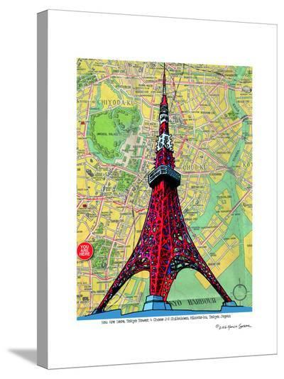 Tokyo Tower--Stretched Canvas Print