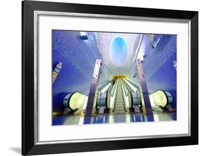 Toledo Art Station of Naples Metro, Naples, Campania, Italy, Europe-Carlo Morucchio-Framed Photographic Print