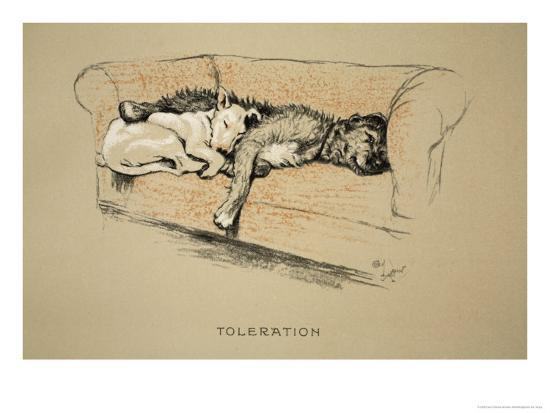 Toleration, 1930, 1st Edition of Sleeping Partners-Cecil Aldin-Giclee Print