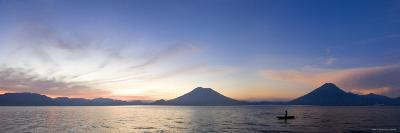 Toliman, Atitlan and San Pedro Volcanoes, Lake Atitlan, Guatemala-Michele Falzone-Photographic Print