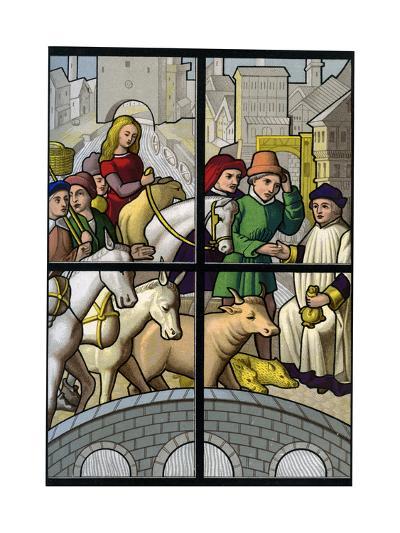 Toll Bridge, 15th Century-H Moulin-Giclee Print