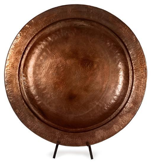 Toluca Copper-Plated Charger with Stand--Home Accessories