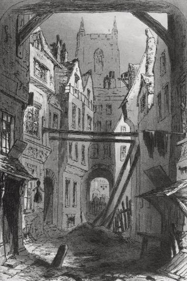 Tom All Alone's, Illustration from 'Bleak House' by Charles Dickens (1812-70) Published 1853-Hablot Knight Browne-Giclee Print