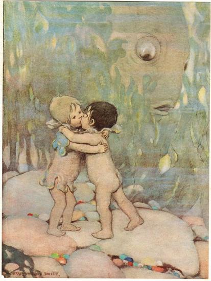 Tom and Ellie, Illustration from 'The Water Babies' by Reverend Charles Kingsley-Jessie Willcox-Smith-Giclee Print