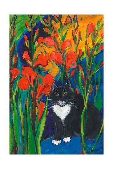 Tom and Gladioli, 1998-Sarah Gillard-Giclee Print