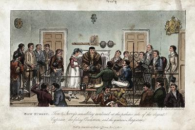 Tom and Jerry as Observers in the Bow Street Magistrate's Court, London, 1821-George Cruikshank-Giclee Print