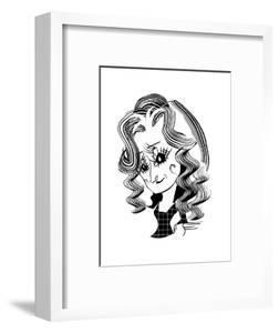 Bonnie Raitt - Cartoon by Tom Bachtell