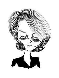 Charlotte Rampling - New Yorker Cartoon by Tom Bachtell