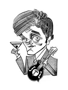 Chris Thile-Punch Brothers - New Yorker Cartoon by Tom Bachtell