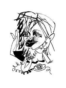 Courtney Love - New Yorker Cartoon by Tom Bachtell