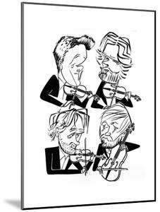 Danish String Quartet - New Yorker Cartoon by Tom Bachtell