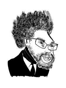 Dr. Cornel West  - Cartoon by Tom Bachtell