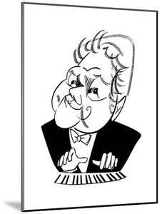 Emmanuel Ax - Cartoon by Tom Bachtell