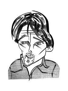 Ethan Hawke - Cartoon by Tom Bachtell