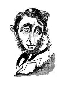 Henry David Thoreau - Cartoon by Tom Bachtell