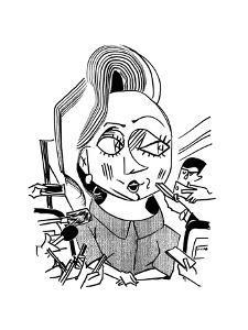 Hillary Clinton Double Standard  - Cartoon by Tom Bachtell