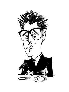 Ira Glass - Cartoon by Tom Bachtell