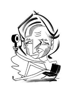 James Dyson - Cartoon by Tom Bachtell