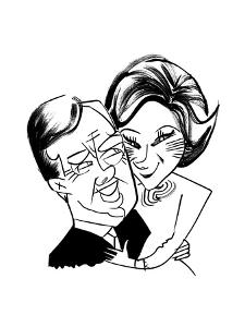 Jimmy and Rosalynn Carter - Cartoon by Tom Bachtell