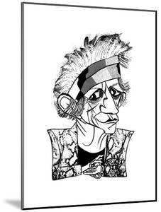 Keith Richards - New Yorker Cartoon by Tom Bachtell