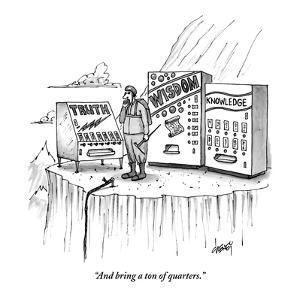 """And bring a ton of quarters."" - New Yorker Cartoon by Tom Cheney"