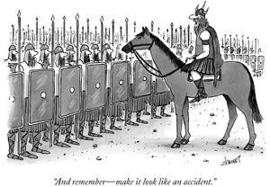 """And remember—make it look like an accident."" - New Yorker Cartoon by Tom Cheney"