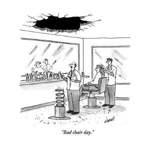 """Bad chair day."" - New Yorker Cartoon by Tom Cheney"