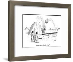 """""""Badda-boom, Badda-bing."""" - New Yorker Cartoon by Tom Cheney"""