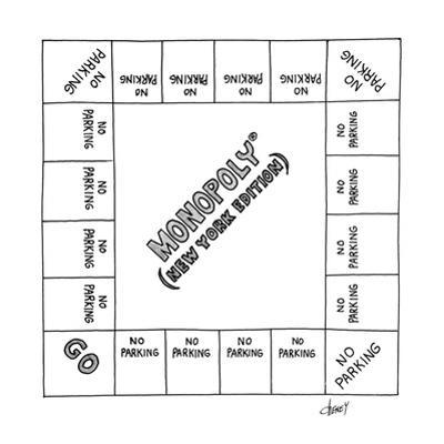 Board game Monoploy (New York Version - New Yorker Cartoon by Tom Cheney