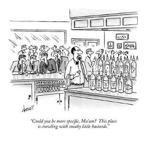 """""""Could you be more specific, Ma'am?  This place is crawling with sneaky li…"""" - New Yorker Cartoon by Tom Cheney"""