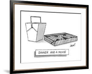 Dinner and a Movie - New Yorker Cartoon by Tom Cheney