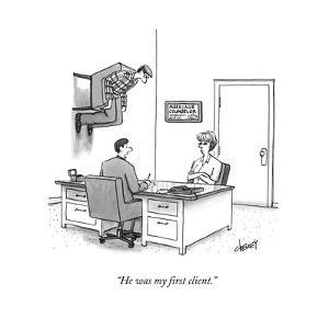 """He was my first client."" - New Yorker Cartoon by Tom Cheney"