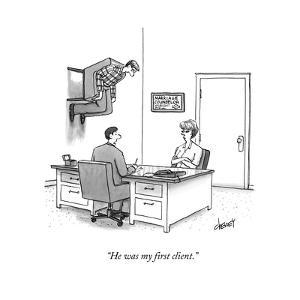 """""""He was my first client."""" - New Yorker Cartoon by Tom Cheney"""
