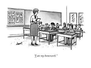 """I ate my homework."" - New Yorker Cartoon by Tom Cheney"