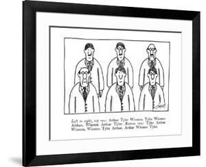Left to right, top row: Arthur Tyler Winston, Tyler Winston Arthur, Winsto? - New Yorker Cartoon by Tom Cheney