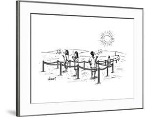 Smoking section of the desert. - New Yorker Cartoon by Tom Cheney