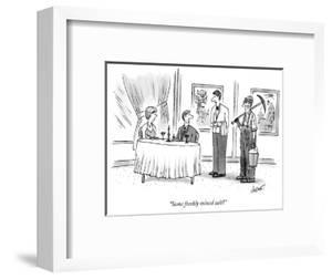 """Some freshly mined salt?"" - New Yorker Cartoon by Tom Cheney"