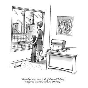 """""""Someday, sweetheart, all of this will belong to your ex-husband and his a?"""" - New Yorker Cartoon by Tom Cheney"""